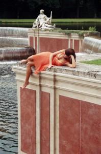 Fluss-Göttininnen an der Großen Kaskade im Nymphenburger Schlosspark