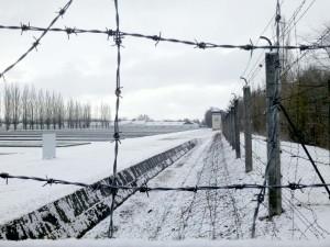 Der Todeszaun im Konzentrationslager Dachau